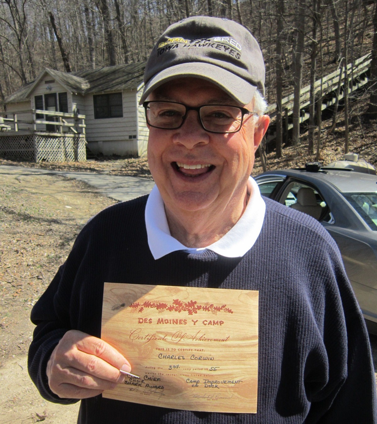 9 Chuck Corwin with 1955 campers certificate.JPG