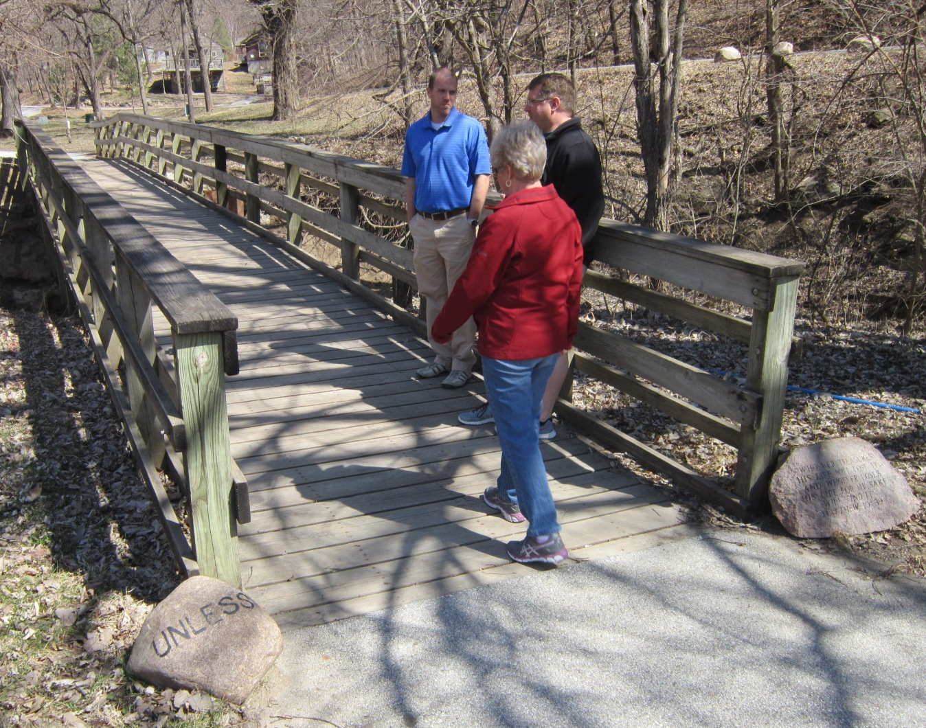 2 Ellen Corwin walking past Unless rock.JPG