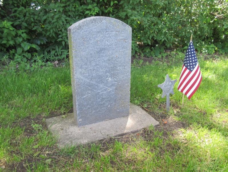 10 Grave of Lafayette Pickett, Civil War veteran, at Pleasant Hill Cemetery.JPG