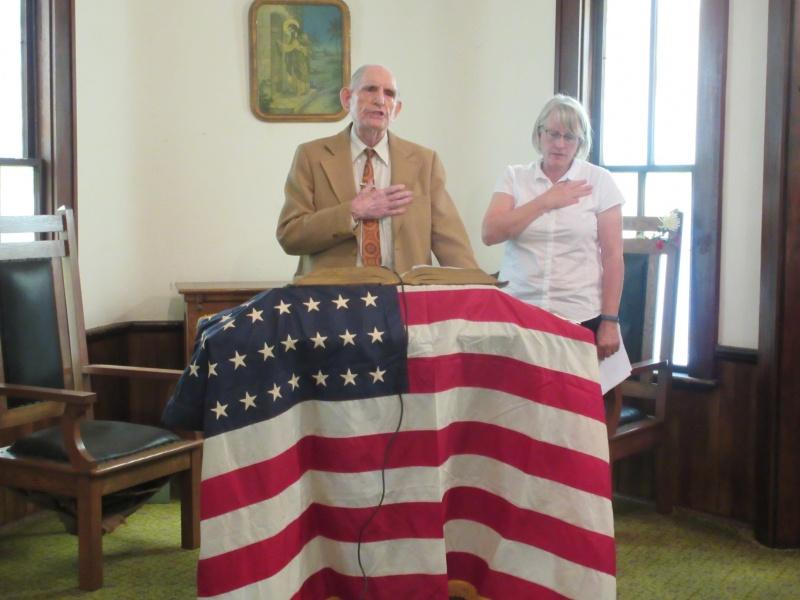 5 Wallace Teagarden & Gina Harrington in Pledge of Allegiance.JPG