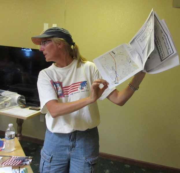 3 Lori Willert with route map.JPG