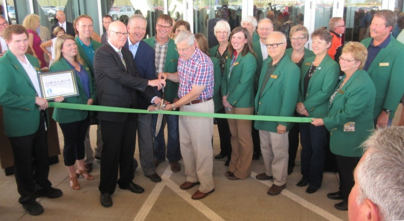 Ribbon cutting at grand opening Wild Rose Casino & Resort Aug 7.JPG