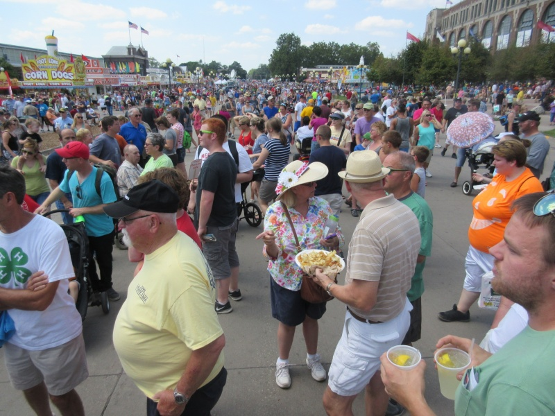 Big crowd at Iowa State Fair.JPG