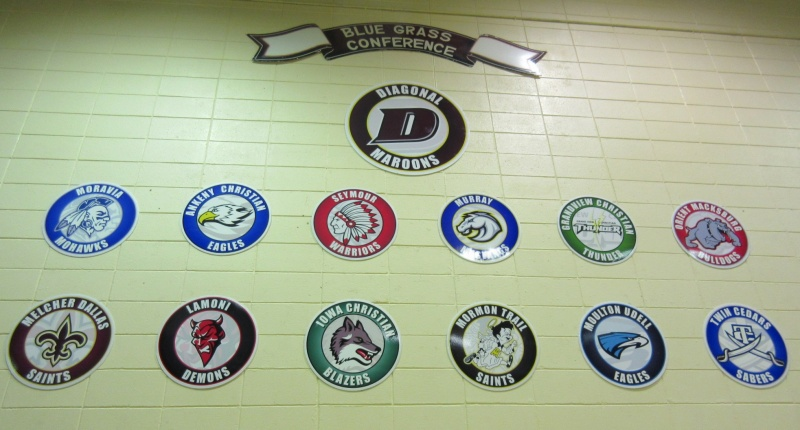 1 Blue Grass Conference teams on gym wall.JPG