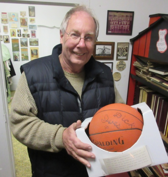 19 Chuck Schoffner autographed Dick Ives basketball.JPG