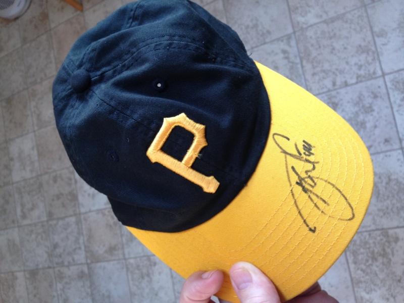 TW Autographed Pirates cap.JPG