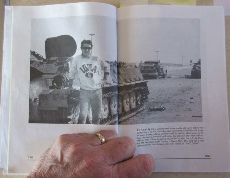 Old photo in book of me with tank.JPG